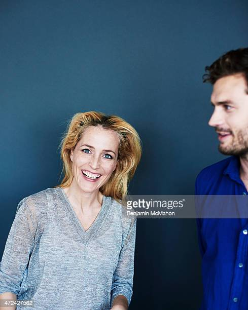 Actors Gillian Anderson and Jamie Dornan are photographed for the Telegraph on September 18 2014 in London England