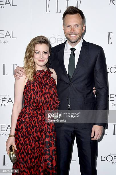 Actors Gillian Jacobs and Joel McHale attend ELLE's 21st Annual Women in Hollywood Celebration at the Four Seasons Hotel on October 20 2014 in...