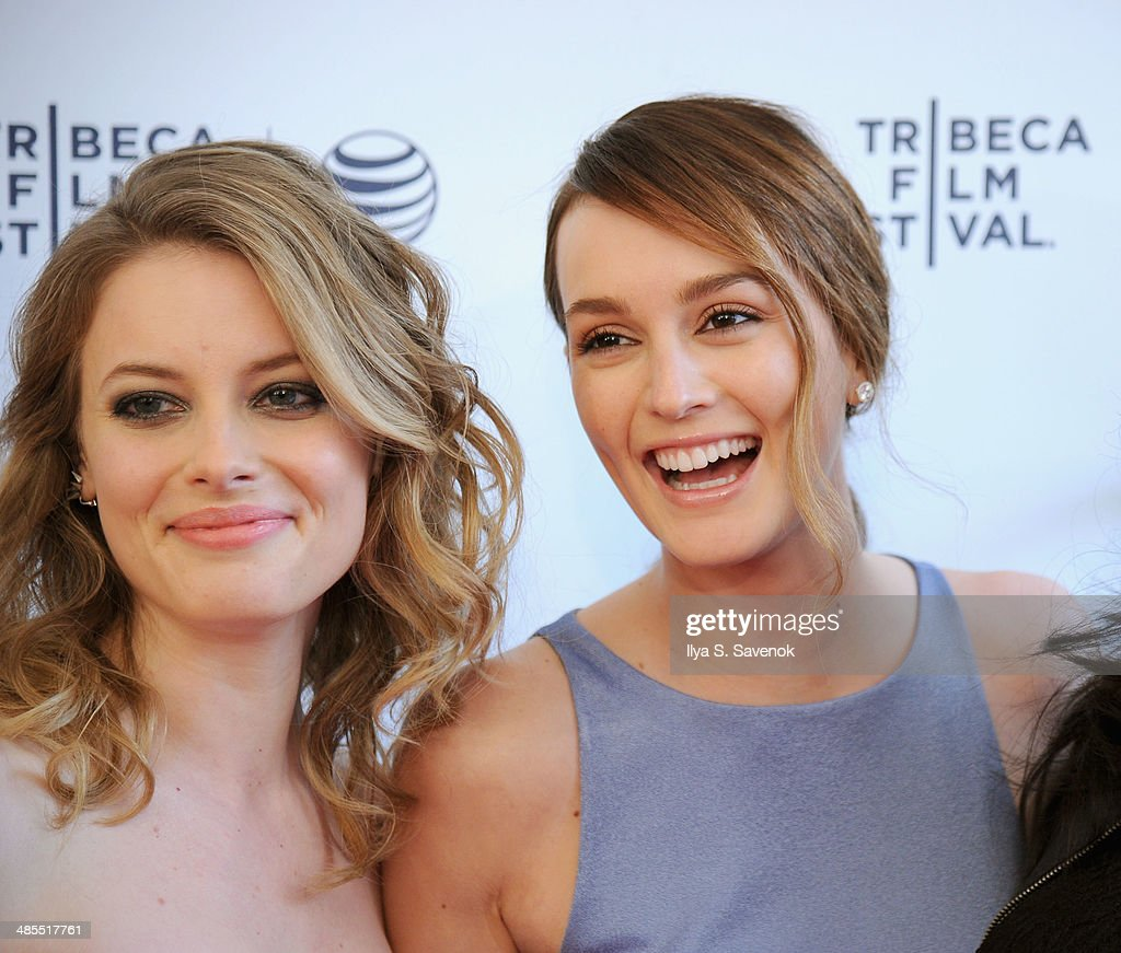 Actors Gillian Jacobs (L) and Leighton Meester attend the 'Life Partners' Premiere during the 2014 Tribeca Film Festival at the SVA Theater on April 18, 2014 in New York City.