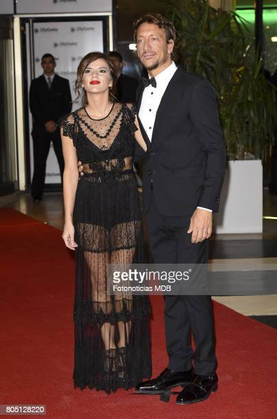 Actors Gimena Accardi and Nico Vazquez attend Lionel Messi and Antonela Rocccuzzo's wedding at the City Center Rosario Hotel Casino on June 30 2017...