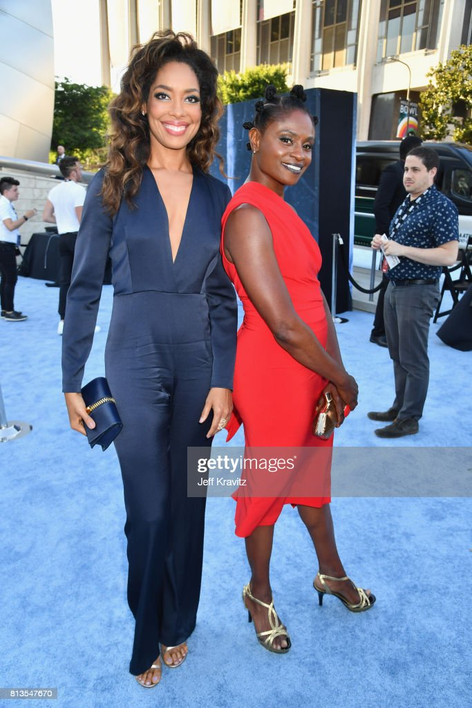 Actors Gina Torres (L) and Adina Porter at the Los Angeles Premiere for the seventh season of HBO's 'Game Of Thrones' at Walt Disney Concert Hall on July 12, 2017 in Los Angeles, California.