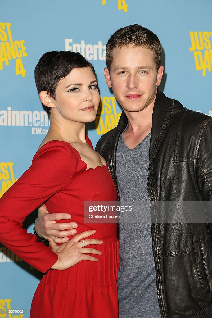 Actors <a gi-track='captionPersonalityLinkClicked' href=/galleries/search?phrase=Ginnifer+Goodwin&family=editorial&specificpeople=215039 ng-click='$event.stopPropagation()'>Ginnifer Goodwin</a> (L) and Josh Dallas arrive at Entertainment Weekly's Comic-Con celebration at Float at Hard Rock Hotel San Diego on July 14, 2012 in San Diego, California.