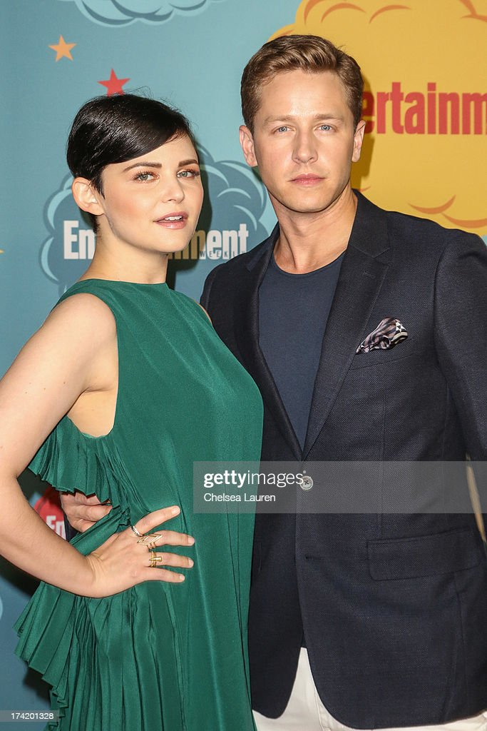 Actors <a gi-track='captionPersonalityLinkClicked' href=/galleries/search?phrase=Ginnifer+Goodwin&family=editorial&specificpeople=215039 ng-click='$event.stopPropagation()'>Ginnifer Goodwin</a> (L) and Josh Dallas arrive at Entertainment Weekly's annual Comic-Con celebration at Float at Hard Rock Hotel San Diego on July 20, 2013 in San Diego, California.