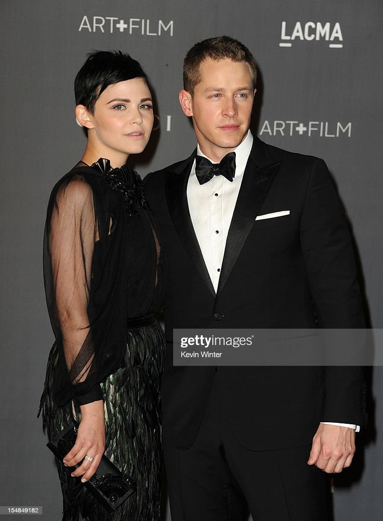 Actors Ginnifer Goodwin and Josh Dallas arrive at LACMA 2012 Art + Film Gala at LACMA on October 27, 2012 in Los Angeles, California.