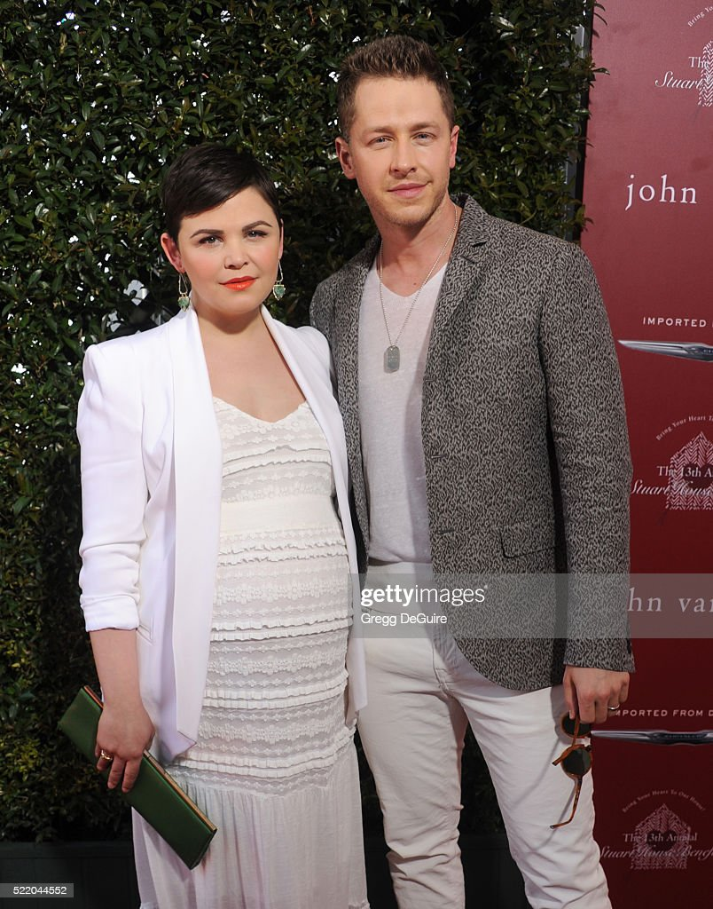 Actors Ginnifer Goodwin and Josh Dallas arrive at the 13th Annual Stuart House Benefit at John Varvatos on April 17, 2016 in Los Angeles, California.
