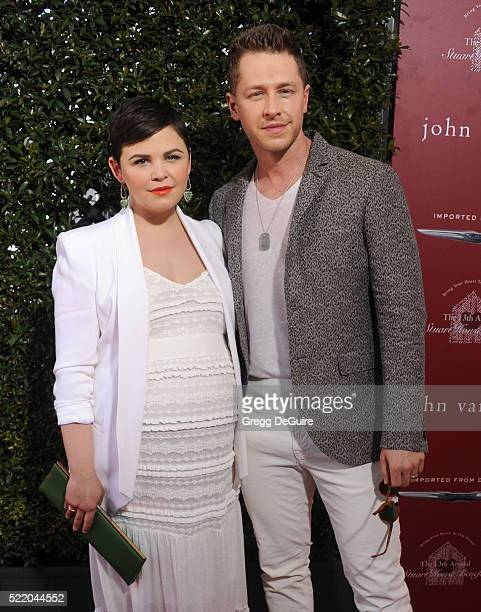 Actors Ginnifer Goodwin and Josh Dallas arrive at the 13th Annual Stuart House Benefit at John Varvatos on April 17 2016 in Los Angeles California