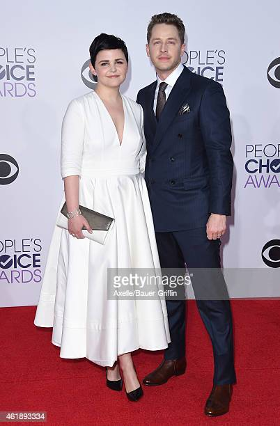Actors Ginnifer Goodwin and Josh Dallas arrive at The 41st Annual People's Choice Awards at Nokia Theatre LA Live on January 7 2015 in Los Angeles...