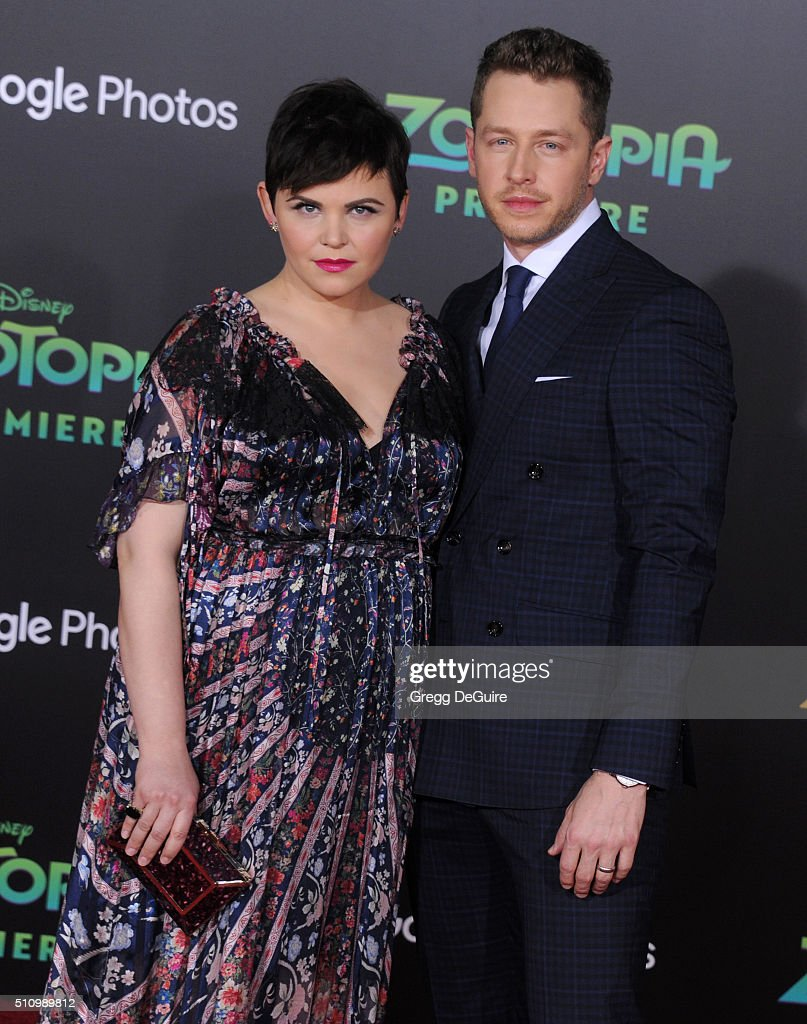 Actors Ginnifer Goodwin and Josh Dallas arrive at the premiere of Walt Disney Animation Studios' 'Zootopia' at the El Capitan Theatre on February 17, 2016 in Hollywood, California.