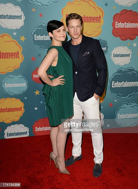 Actors Ginnifer Goodwin and Josh Dallas attend Entertainment Weekly's Annual ComicCon Celebration at Float at Hard Rock Hotel San Diego on July 20...