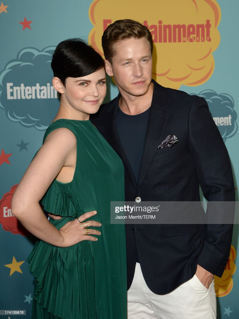 Actors <a gi-track='captionPersonalityLinkClicked' href=/galleries/search?phrase=Ginnifer+Goodwin&family=editorial&specificpeople=215039 ng-click='$event.stopPropagation()'>Ginnifer Goodwin</a> (L) and Josh Dallas attend Entertainment Weekly's Annual Comic-Con Celebration at Float at Hard Rock Hotel San Diego on July 20, 2013 in San Diego, California.