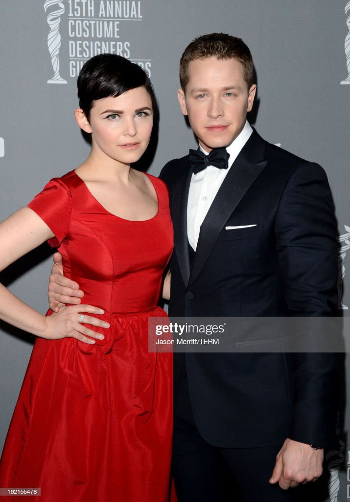 Actors <a gi-track='captionPersonalityLinkClicked' href=/galleries/search?phrase=Ginnifer+Goodwin&family=editorial&specificpeople=215039 ng-click='$event.stopPropagation()'>Ginnifer Goodwin</a> (L) and Josh Dallas attend the 15th Annual Costume Designers Guild Awards with presenting sponsor Lacoste at The Beverly Hilton Hotel on February 19, 2013 in Beverly Hills, California.