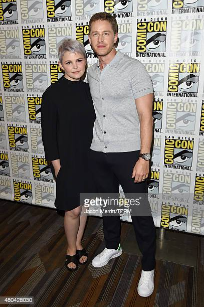 Actors Ginnifer Goodwin and Josh Dallas attend the 'Once Upon A Time' press room during ComicCon International 2015 at the Hilton Bayfront on July 11...