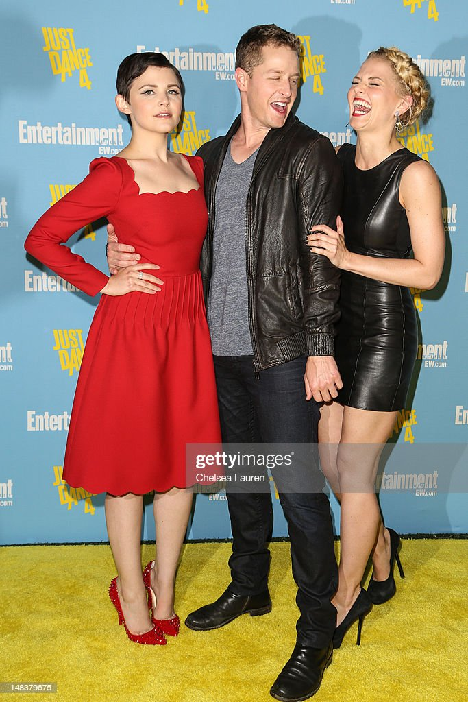 Actors <a gi-track='captionPersonalityLinkClicked' href=/galleries/search?phrase=Ginnifer+Goodwin&family=editorial&specificpeople=215039 ng-click='$event.stopPropagation()'>Ginnifer Goodwin</a>, Josh Dallas and <a gi-track='captionPersonalityLinkClicked' href=/galleries/search?phrase=Jennifer+Morrison&family=editorial&specificpeople=233495 ng-click='$event.stopPropagation()'>Jennifer Morrison</a> arrive at Entertainment Weekly's Comic-Con celebration at Float at Hard Rock Hotel San Diego on July 14, 2012 in San Diego, California.