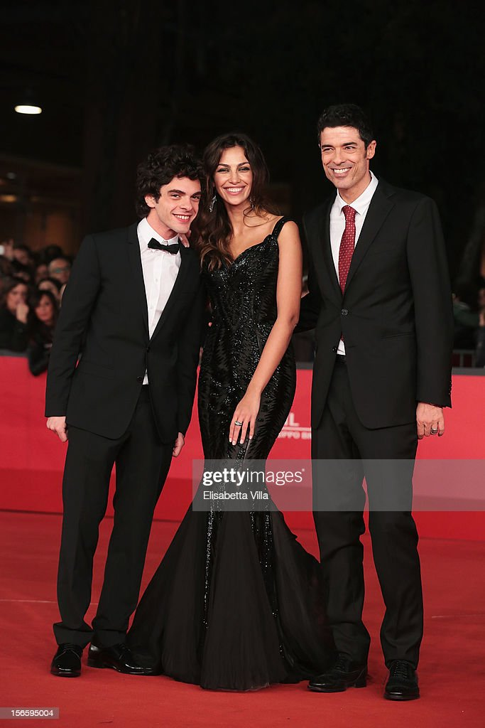 Actors Giovanni Anzaldo, Madalina Ghenea and director <a gi-track='captionPersonalityLinkClicked' href=/galleries/search?phrase=Alessandro+Gassman&family=editorial&specificpeople=2855774 ng-click='$event.stopPropagation()'>Alessandro Gassman</a> attend the 'Razza Bastarda' Premiere during the 7th Rome Film Festival at the Auditorium Parco Della Musica on November 17, 2012 in Rome, Italy.
