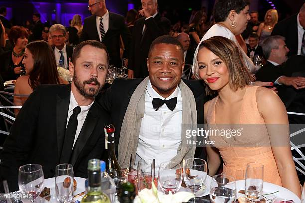 Actors Giovanni Ribisi Cuba Gooding Jr and Carmen Ejogo attend the 20th annual Critics' Choice Movie Awards at the Hollywood Palladium on January 15...