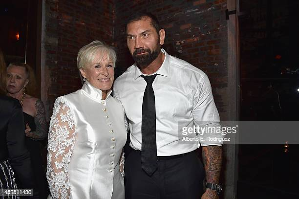 "Actors Glenn Close and Dave Bautista attend the after party for The World Premiere of Marvel's epic space adventure ""Guardians of the Galaxy""..."
