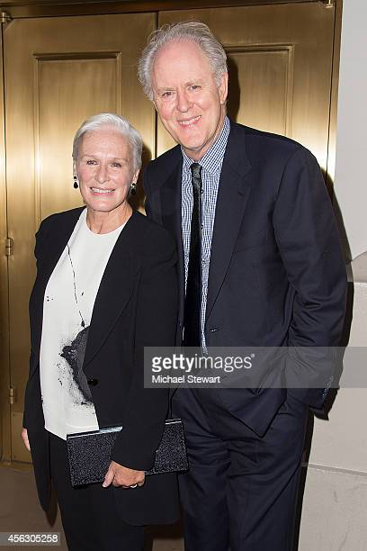 Actors Glenn Close and John Lithgow attend 'You Can't Take It With You' opening night at Longacre Theatre on September 28 2014 in New York City