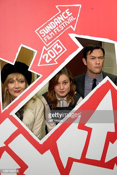 Actors Glenne Headly and Brie Larson and actor/director Joseph GordonLevitt attend 'Don Jon's Addiction' Premiere during the 2013 Sundance Film...