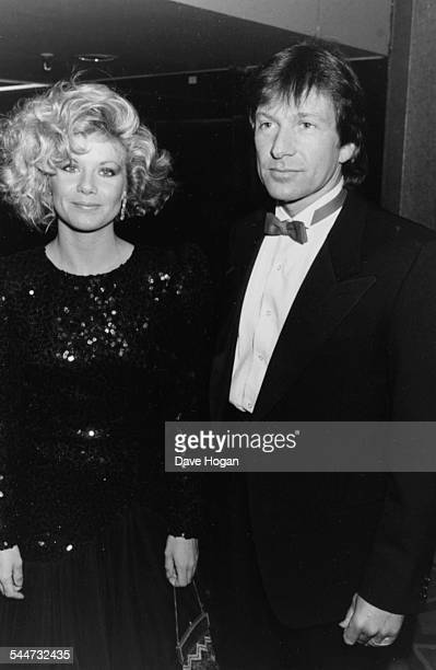 Actors Glynis Barber and Michael Brandon television's 'Dempsey and Makepeace' attending the British Phonograph Awards February 10th 1986
