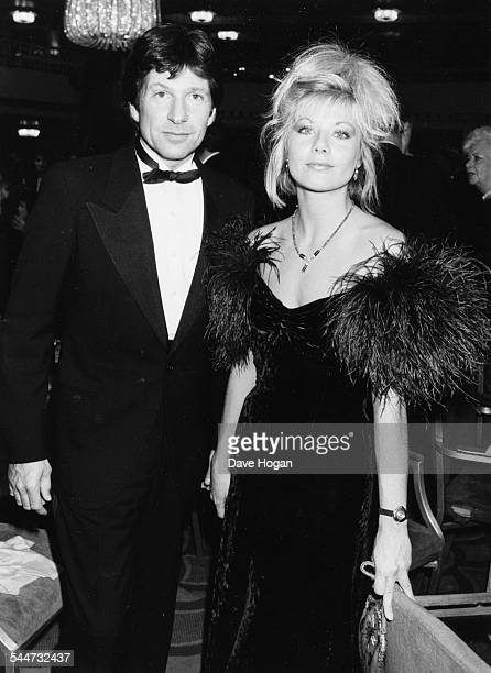 Actors Glynis Barber and Michael Brandon television's 'Dempsey and Makepeace' attending the BAFTA Awards in London March 18th 1986