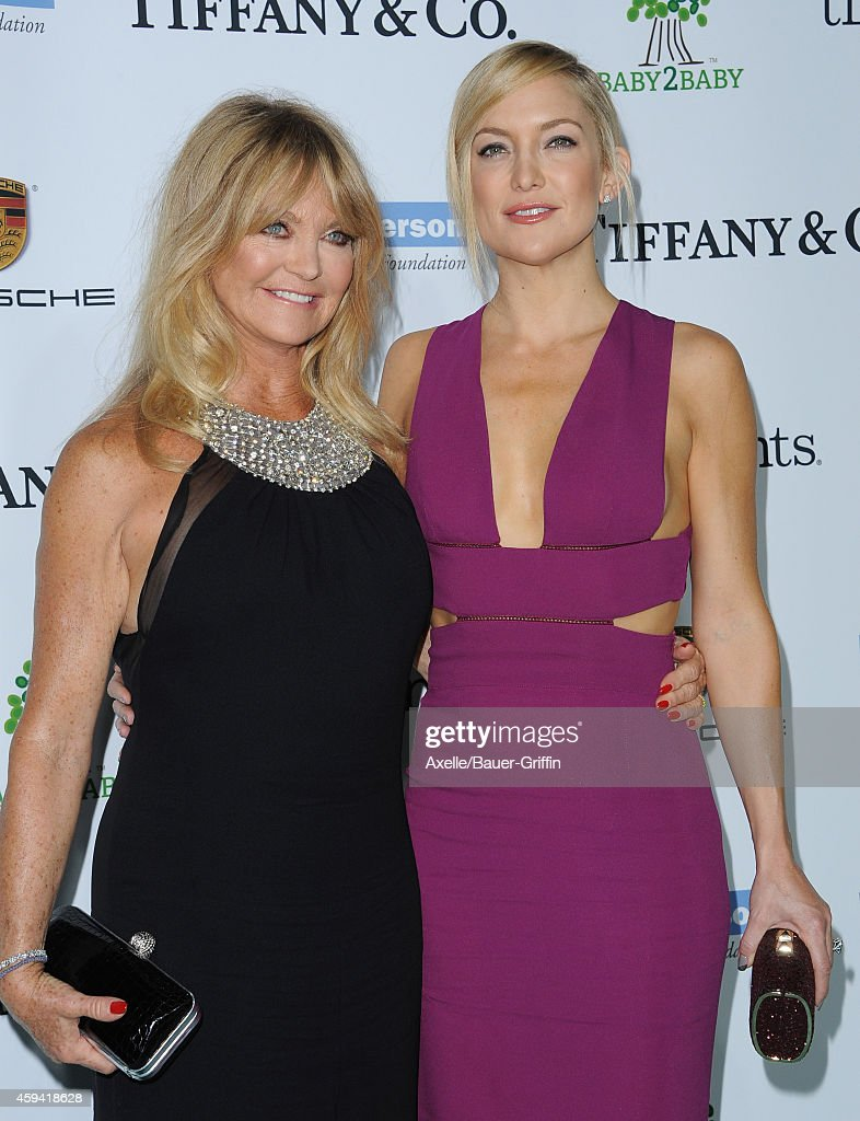 Actors Goldie Hawn and Kate Hudson arrive at the 2014 Baby2Baby Gala presented by Tiffany & Co. honoring Kate Hudson at The Book Bindery on November 8, 2014 in Culver City, California.