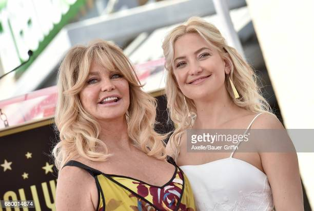 Actors Goldie Hawn and Kate Hudson attend the ceremony honoring Goldie Hawn and Kurt Russell with double star ceremony on the Hollywood Walk of Fame...