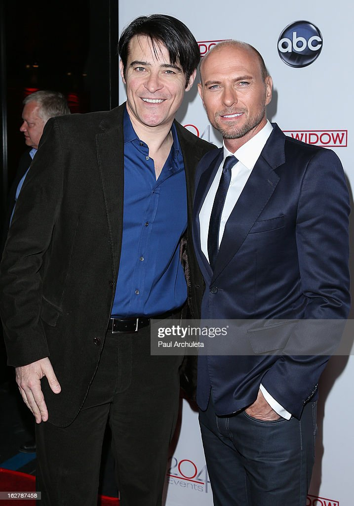 Actors <a gi-track='captionPersonalityLinkClicked' href=/galleries/search?phrase=Goran+Visnjic&family=editorial&specificpeople=213921 ng-click='$event.stopPropagation()'>Goran Visnjic</a> (L) and <a gi-track='captionPersonalityLinkClicked' href=/galleries/search?phrase=Luke+Goss&family=editorial&specificpeople=218173 ng-click='$event.stopPropagation()'>Luke Goss</a> (R) attend a dinner to celebrate ABC's new series 'Red Widow' at Romanov Restaurant & Lounge on February 26, 2013 in Studio City, California.