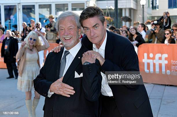 Actors Gordon Pinsent and Peter Keleghan attend 'The Grand Seduction' premiere during the 2013 Toronto International Film Festival at Roy Thomson...