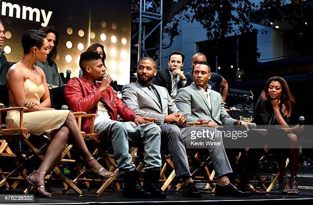 Actors Grace Gealey Bryshere 'Yazz' Gray Jussie Smollett Trai Byers and Taraji P Henson appear onstage at the Television Academy event for Fox Tv's...