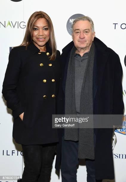 Actors Grace Hightower and Robert De Niro attend HBO's Night Of Too Many Stars America Unites For Autism Programs at The Theater at Madison Square...