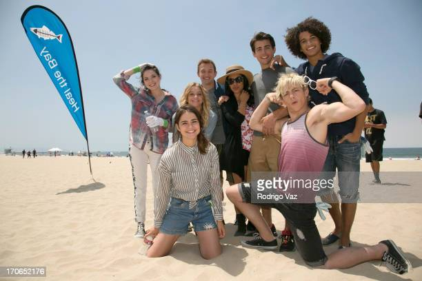 Actors Grace Phipps Maia Mitchell Mollee Gray Kent Boyd Chrissie Fit Ross Lynch John deLuca and Jordan Fisher stars of Disney's 'Teen Beach Movie'...