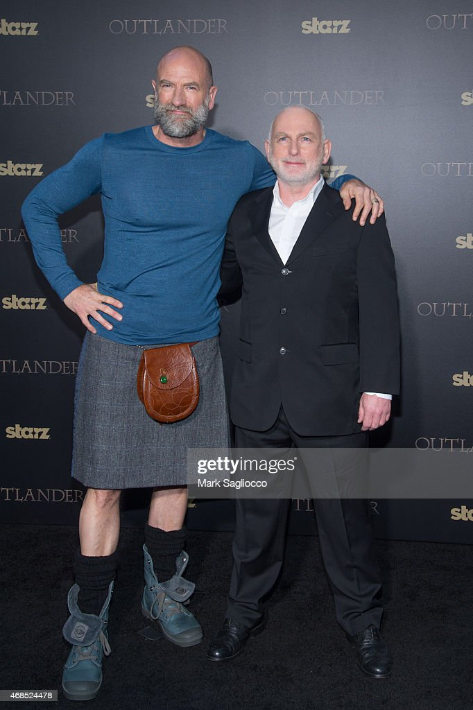 Actors Graham McTavish (L) and Gary Lewis attend the 'Outlander' Mid-Season Premiere at the Ziegfeld Theater on April 1, 2015 in New York City.