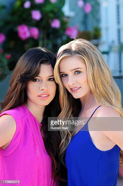 Actors Greer Grammer Alex Frnka are photographed for Miabella on December 15 2012 in Santa Monica California COVER IMAGE
