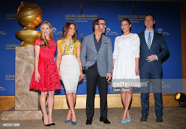 Actors Greer Grammer Kate Beckinsale Jeremy Piven Paula Patton and Peter Krause attend the 72nd Annual Golden Globe Awards Nominations Announcement...