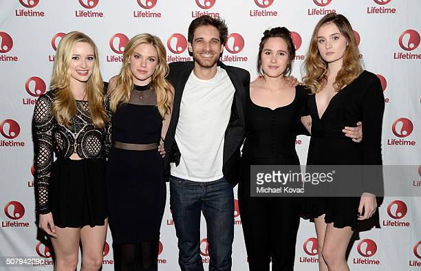Actors Greer Grammer Mackenzie Mauzy Jeff Ward Eden Brolin and Grace Victoria Cox attend 'Manson's Lost Girls' Lifetime's Broad Focus Screening at...