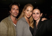 Actors Greg Lauren Elizabeth Berkley and Courteney Cox attend SELF Magazine and Jennifer Aniston's celebration of Mandy Ingber's new book...