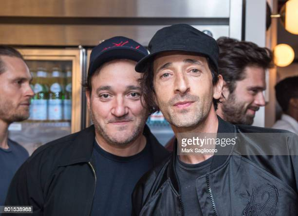 Actors Gregg Bello and Adrien Brody attend TriStar Pictures The Cinema Society and Avion's screening of 'Baby Driver' at The Metrograph on June 26...