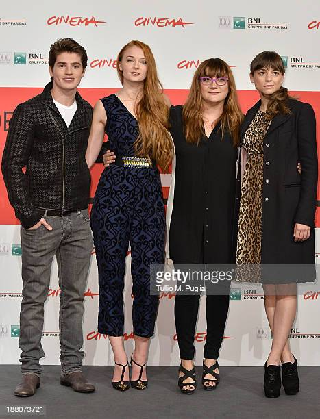 Actors Gregg Sulki Sophie Turner director Isabel Coixet and actress Leonor Watling attends the 'Another Me' Photocall during the 8th Rome Film...