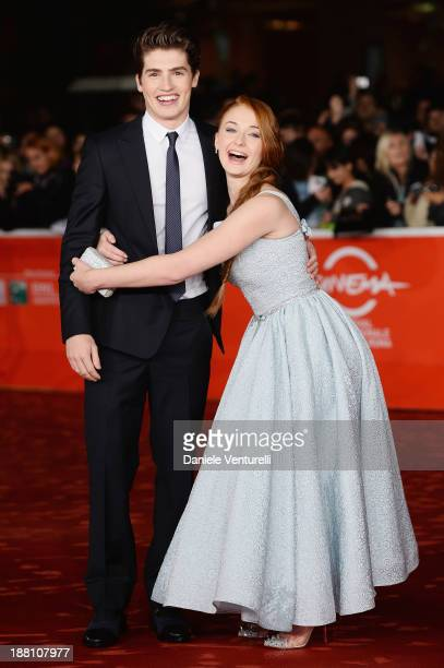 Actors Gregg Sulkin and actress Sophie TurnerCharlotte Vega attend 'Another Me' Premiere during The 8th Rome Film Festival on November 15 2013 in...