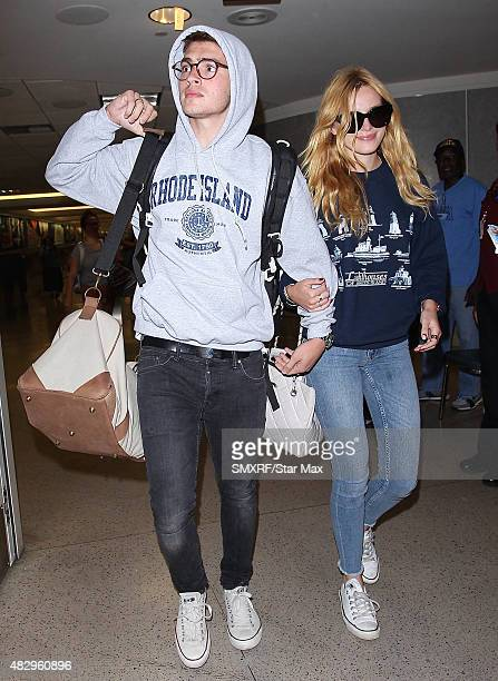 Actors Gregg Sulkin and Bella Thorne are seen on August 4 2015 in Los Angeles California
