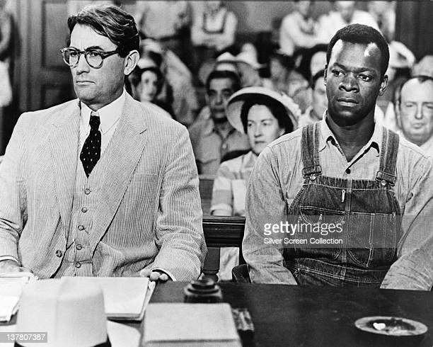 Actors Gregory Peck as Atticus Finch and Brock Peters as Tom Robinson in the film 'To Kill a Mockingbird' 1962