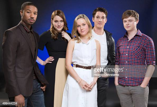 Actors Greta Gerwig Miles Teller Michael B Jordan Brie Larson Dane DeHaan are photographed for Los Angeles Times on November 8 2013 in Hollywood...