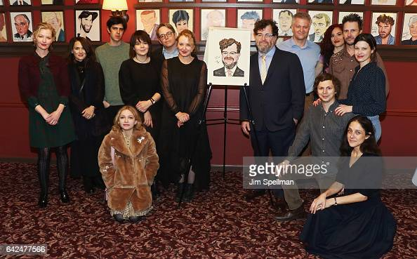 Actors Gretchen Mol Winona Ryder Tavi Gevinson J SmithCameron Michael Cera and guests join Kenneth Lonergan for his caricature unveiling at Sardi's...