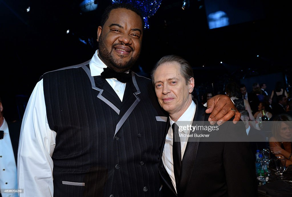 Actors Grizz Chapman and Steve Buscemi in the audience during 20th Annual Screen Actors Guild Awards at The Shrine Auditorium on January 18 2014 in...