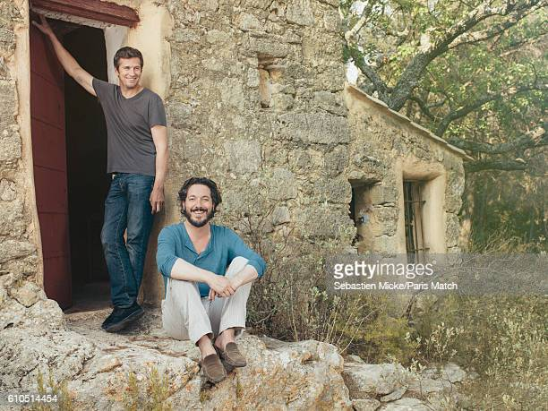 Actors Guillaume Canet and Guillaume Gallienne are photographed for Paris Match on September 13 2016 in AixEnProvence France