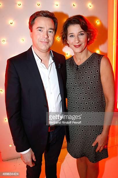 Actors Guillaume de Tonquedec and Isabelle Gelinas present the new season of the TV series ''Fais pas ci fais pas ça' during the 'Vivement Dimanche'...