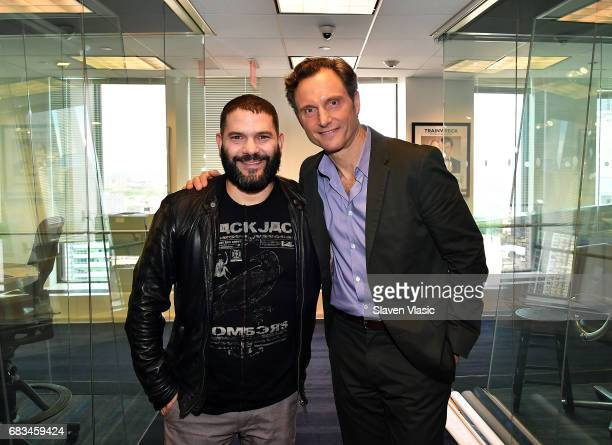 Actors Guillermo Diaz and Tony Goldwyn visit SiriusXM Studios on May 15 2017 in New York City