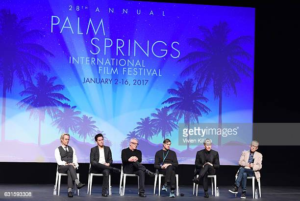 Actors Guy Pearce and Austin McKenzie activist Cleve Jones director Gus Van Sant writer Lance Black and lead programmer of the Palm Springs...