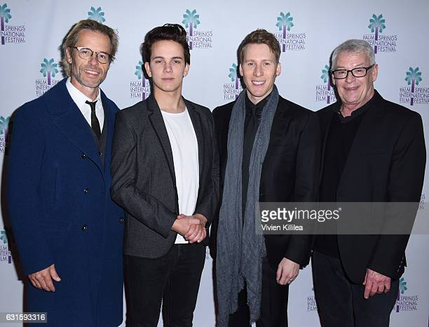 Actors Guy Pearce and Austin McKenzie writer Lance Black and activist Cleve Jones attend the North American Premiere of 'When We Rise' at the 28th...