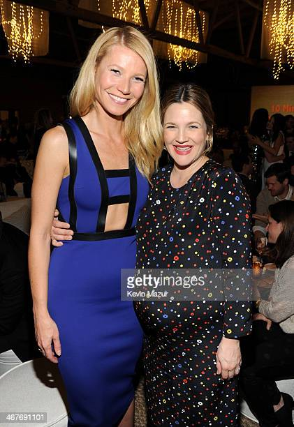 Actors Gwyneth Paltrow and Drew Barrymore attend Hollywood Stands Up To Cancer Event with contributors American Cancer Society and Bristol Myers...